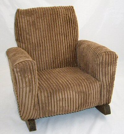 Brown Chenille Chair