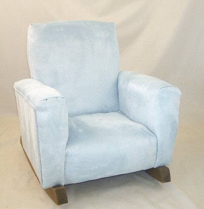 Baby Blue Suede Chair