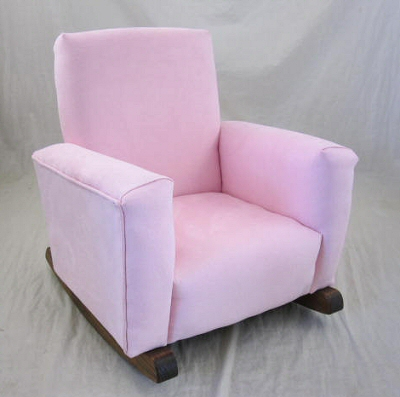 Baby Pink Suede Chair
