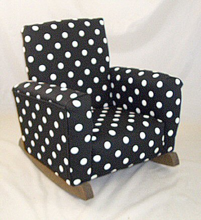 Black U0026 White Polka Dot Chair