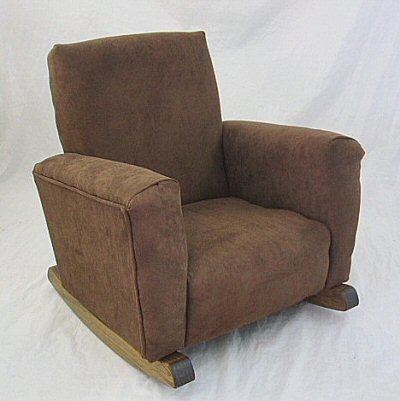 Chocolate Suede Chair
