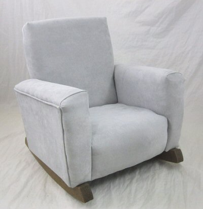 Gray Suede Chair