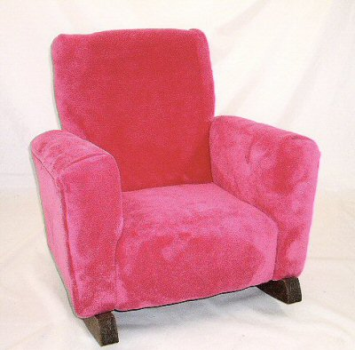 Hot Pink Fleece Chair