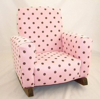 Pink & Chocolate Dots Chair