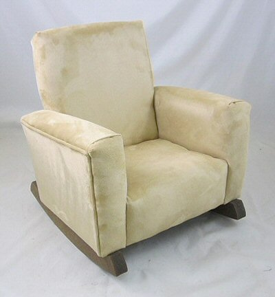 Plush Camel Suede Chair