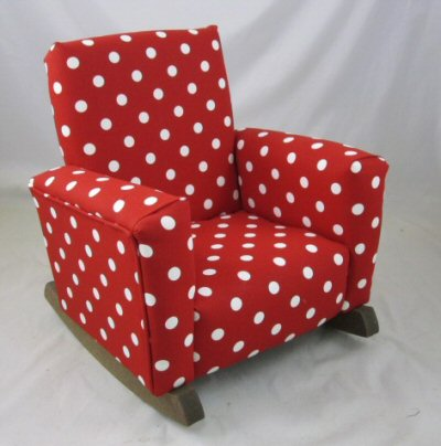 Red & White Polka Dot Chair