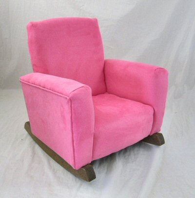 Sassy Pink Suede Chair