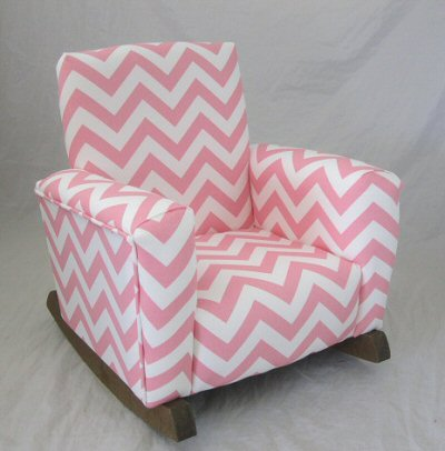 Zig Zag Baby Pink Chair