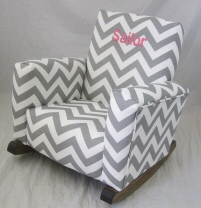 Pink Check Chair