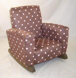 Chocolate & Pink Polka Dot Toddle Rock