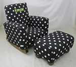 Black & White Polka Dot Toddle Rock Personalized & Toddleman