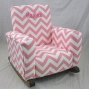 Zig Zag Baby Pink Toddle Rock Personalized in Hot Pink