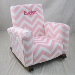 Zig Zag Minky Cuddle Pink Personalized in Hot Pink