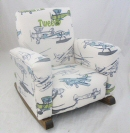 Airplane Toddle Rock Personalized with Sponge in Lime