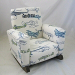 Airplane Toddle Rock Personalized with Sponge in Navy