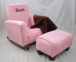 Baby Pink Suede Toddle Rock Personalized with Princess Script in Chocolate  & Toddleman