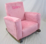 Baby Pink Suede Toddle Rock Personalized in Sponge with Hot Pink