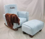 Baby Blue Suede Toddle Rock Personalized with Princess Script in Chocolate & Toddleman