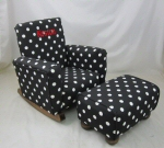 Black & White Polka Dot Toddle Rock Personalized with Sponge in Red & Toddleman