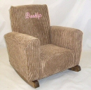 Brown Chenille Toddle Rock Personalized with Princess Script in Medium Pink