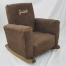 Chocolate Suede Toddle Rock Personalized with Special Script in Khaki