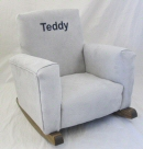 Gray Suede Toddle Rock Personalized with Block in Navy