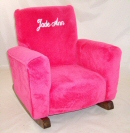 Hot Pink Fleece Toddle Rock Personalized with Princess Script in White