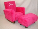 Hot Pink Fleece Toddle Rock Personalized with Princess Script in White & Toddleman