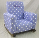 Lavender Polka Dot Toddle Rock Personalized with Princess Script in Purple