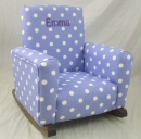 Lavender Polka Dot Toddle Rock Personalized with Sponge in Purple