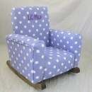 Lavender Polka Dot Toddle Rock Personalized with Sponge in Purple Double Name