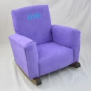 Plum Suede Toddle Rock Personalized with Sponge in Aqua