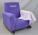 Plum Suede Toddle Rock Personalized with Sponge in Pink