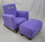 Plum Suede Toddle Rock Personalized with Sponge in Lime & Toddleman