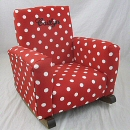 Red & White Polka Dot Toddle Rock Personalized with Princess Script in Black