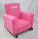 Sassy Pink Suede Toddle Rock Personalized with Sponge in White