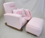 Scroll Pink Toddle Rock & Toddleman Puff Pillow & Blankie