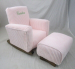 Smooth Pink Chenille Toddle Rock Personalized with Princess Script & Toddleman