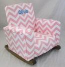 Zig Zag Baby Pink Toddle Rock Personalized with Sponge in Aqua