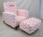 Zig Zag Baby Pink Toddle Rock Personalized and Toddleman
