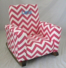 Zig Zag Candy Pink Toddle Rock Personalized with Sponge in Aqua