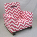 Zig Zag Candy Pink Toddle Rock Personalized with Sponge with Black