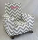 Zig Zag Toddle Rock Personalized with Sponge in Medium Pink