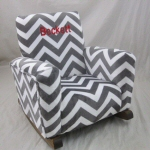 Zig Zag Gray Minky Cuddle Personalized with Block in Red