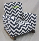 Zig Zag Navy Toddle Rock Personalized in Block with Lime