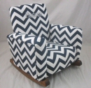 Zig Zag Toddle Rock Personalized with Sponge in Gray