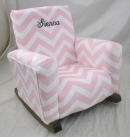 Zig Zag Pink Minky Cuddle Toddle Rock Personalized in Princess Script with Black